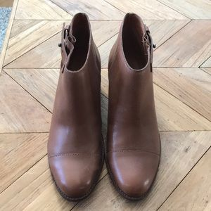 Madewell brown leather boots